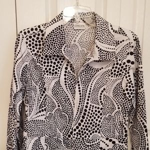 Chico's polka dot zip jacket size 0